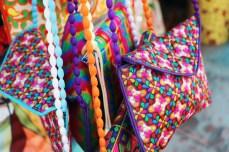 An assortment of beautiful handbags.