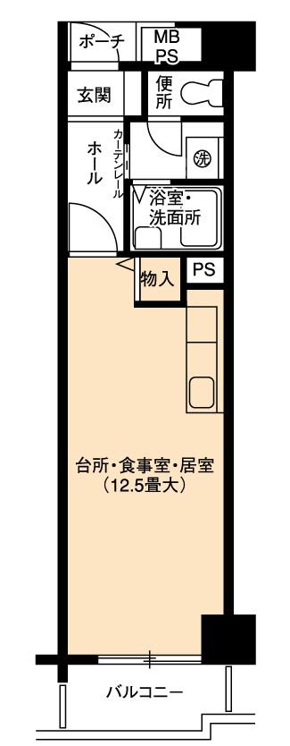 1R(間取)