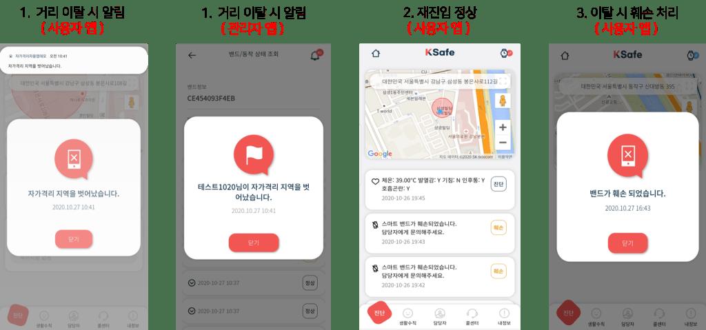 자가격리 앱 시나리오3 격리 이탈