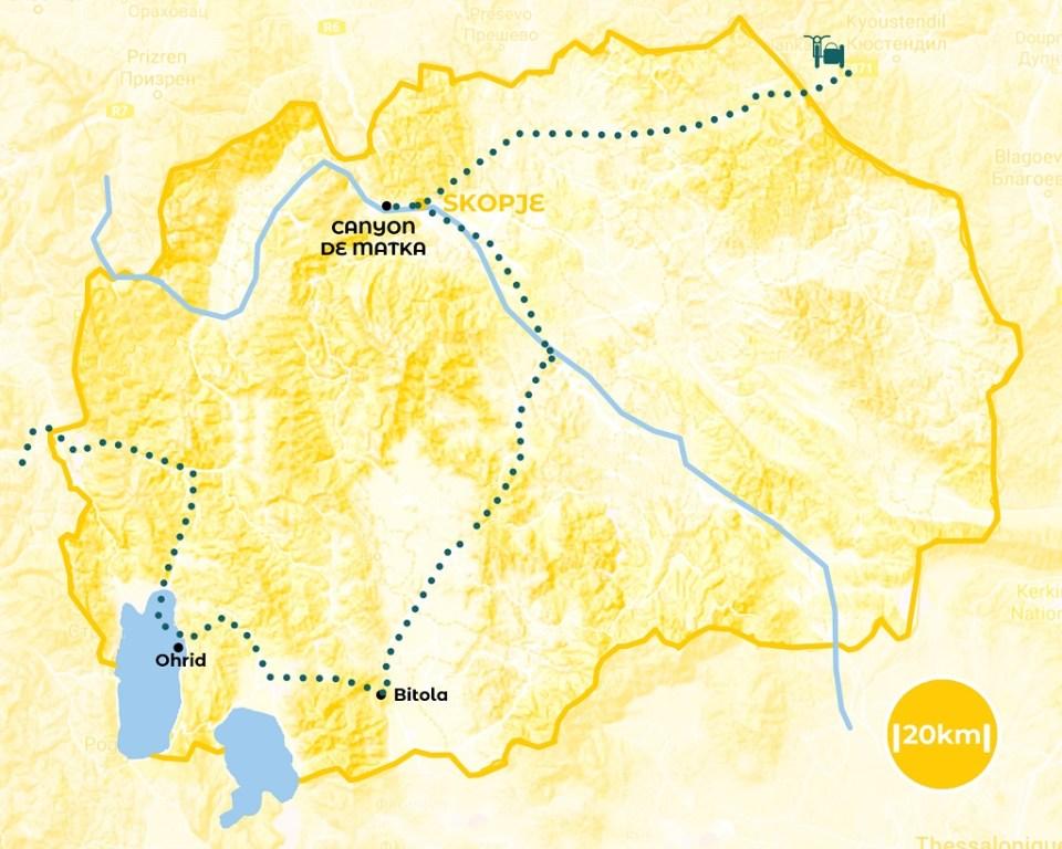 Roadtrip en Macédoine du nord - notre itinéraire - URALISTAN