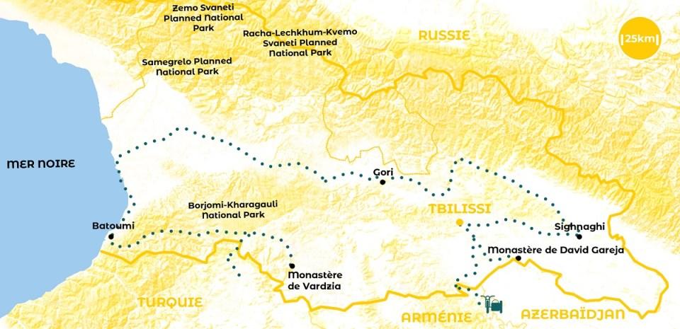 Roadtrip en Géorgie - notre itinéraire - URALISTAN