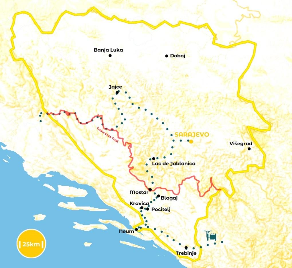 Roadtrip en Bosnie-Herzégovine - notre itinéraire - URALISTAN