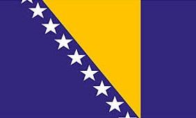Drapeau Bosniaque, voyage en Bosnie - Herzégovine