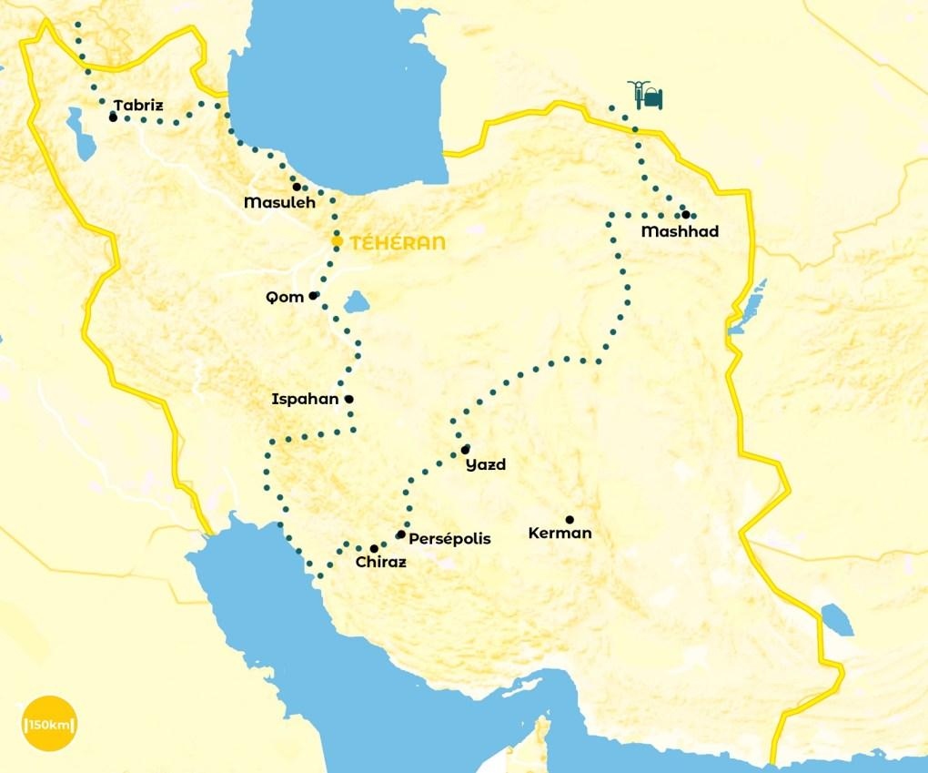 Roadtrip Iran - notre itinéraire - URALISTAN