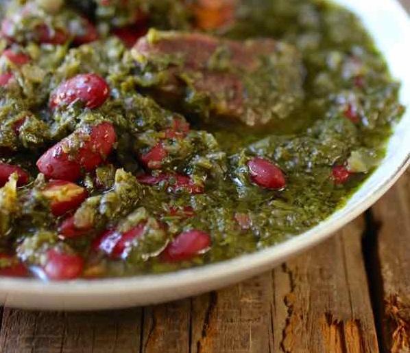 Gastronomie Iranienne, traditionnel d'Iran : ghormeh-sabzi