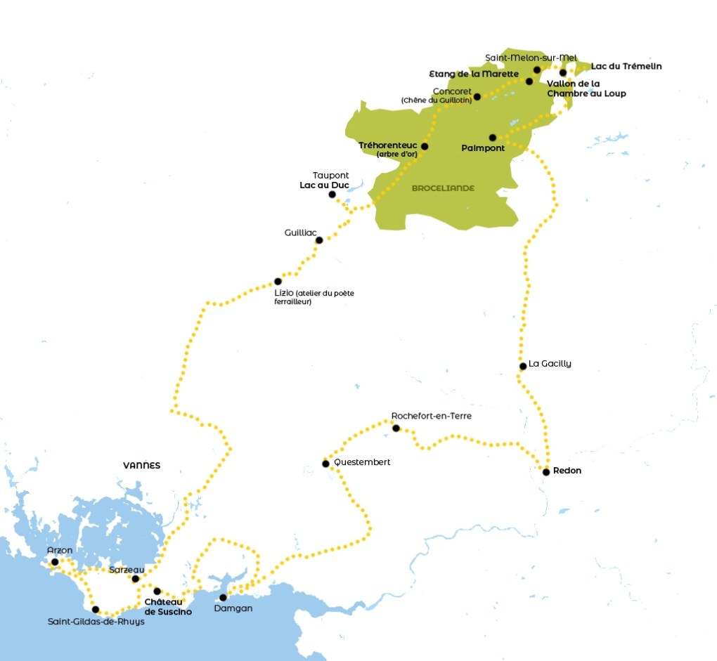 Balade moto en Bretagne, itinéraire
