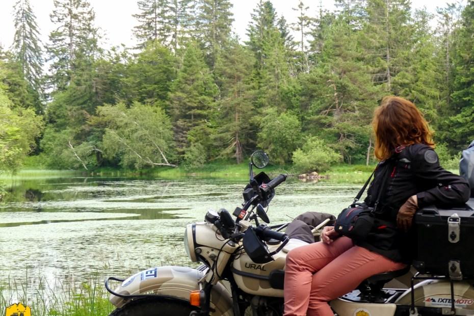 Voyage moto sur le plateau des mille étangs dans les Vosges sud - URALISTAN