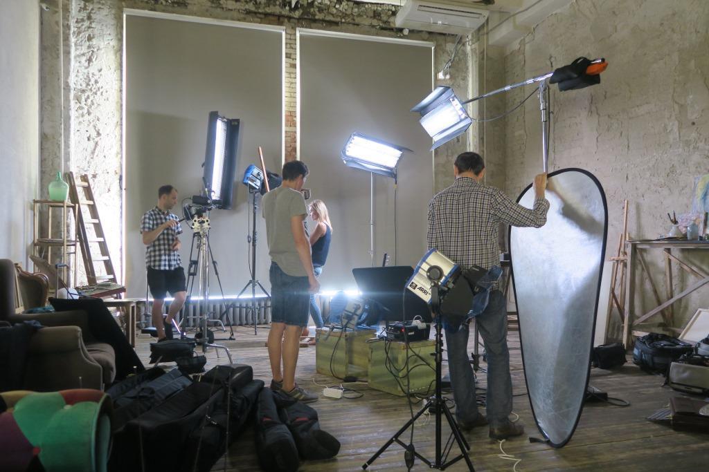 Студийная съёмка - установка света