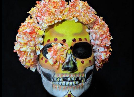 Цветочный череп.