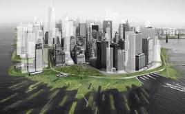 Barrières végétales contre la hausse du niveau de l'eau