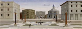 La Veduta di città ideale - dit de Baltimore », au Walters Art Museum qui lui faisait (peut-être) pendant. Attribuée à Fra Carnevale