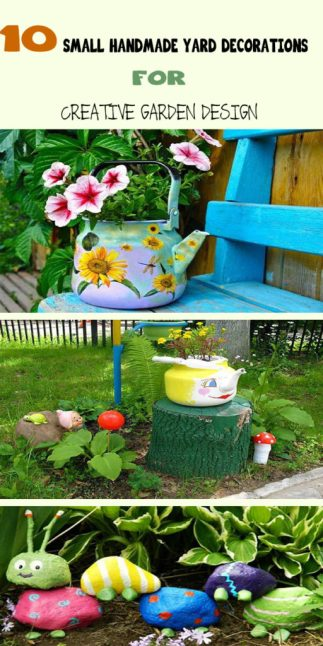 10 Small Handmade Yard Decorations for Creative Garden Design 1