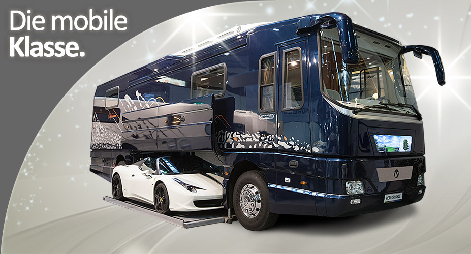 More wild German RV's with garages for sport cars! Mobile Home With Car Underneath on cute house and car, condo with car, vacant lot with car, a house with car, apartment with car, motorhome with car, barn with car, garage with car, hotel with car, hybrid camper motorhome car, trailer with car,