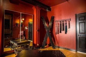 The Red Room is just one of four available rooms for rent at Chicago Dungeon Rentals, the Midwest's very own BDSM bed-and-breakfast. Photo courtesy of Chicago Dungeon Rentals.
