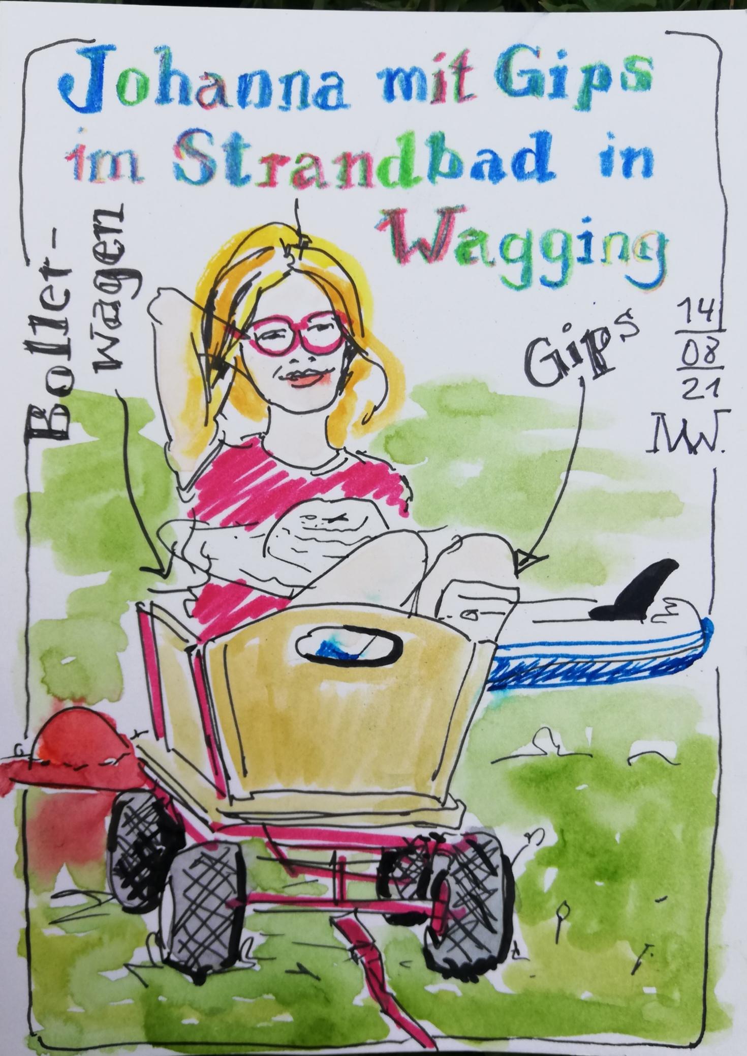 Sketch von Johanna, gezeichtet von Margarita