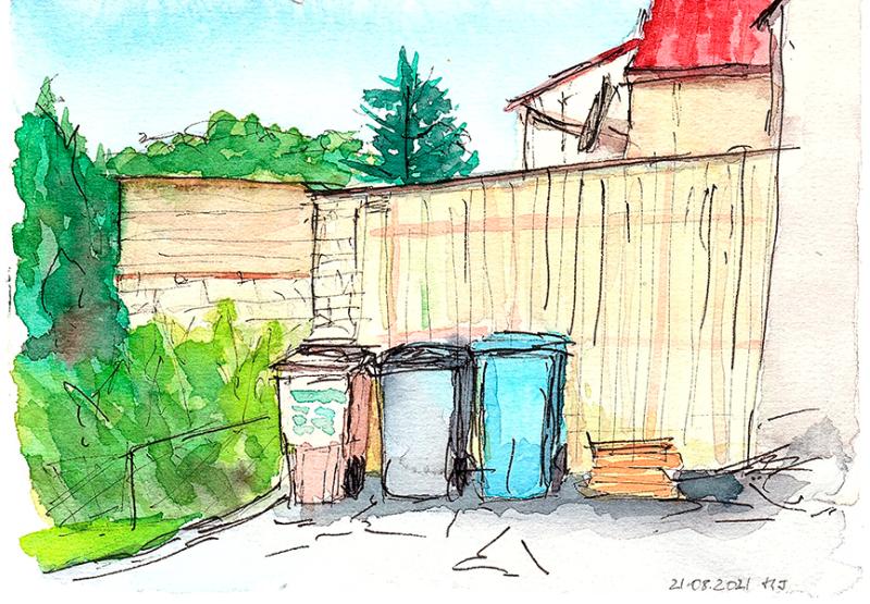 Sketch von oft übersehenen Objekten, gezeichnet von Michael J.