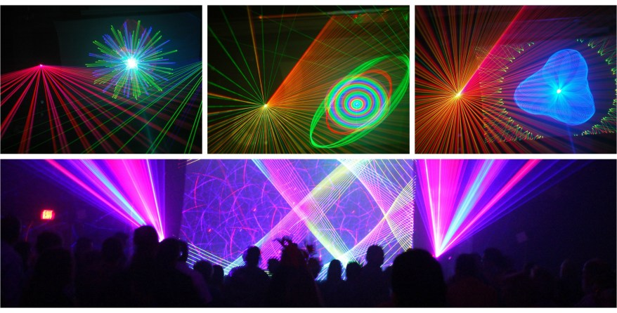 lasershow collage