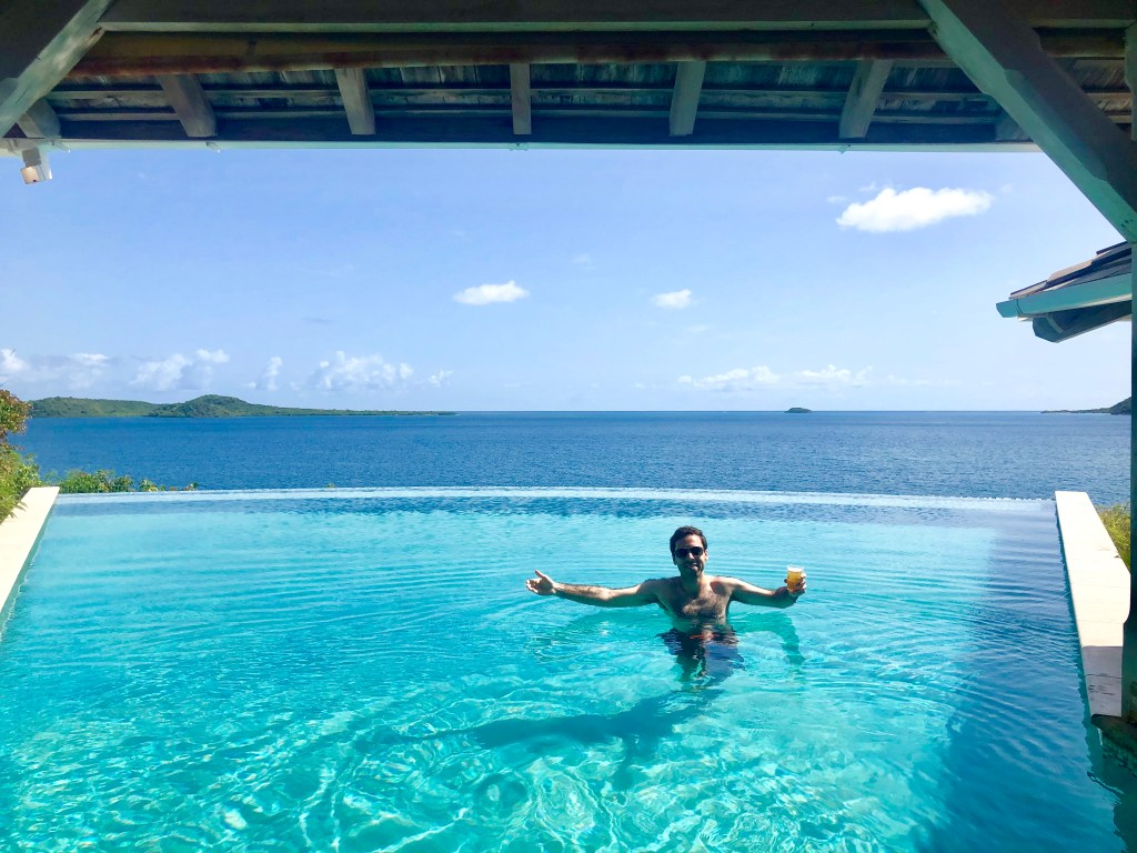 Pool at the Nonsuch Bay Resort in Antigua for our honeymoon