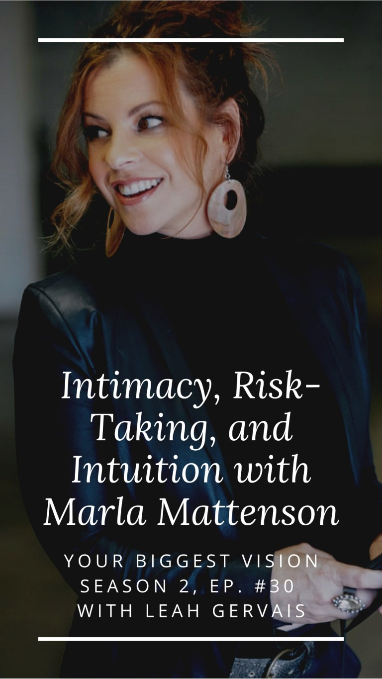 Hear today's guest, Marla Mattenson, Relationship & Intimacy Expert who specializes in working with entrepreneur couples share her visionary journey!