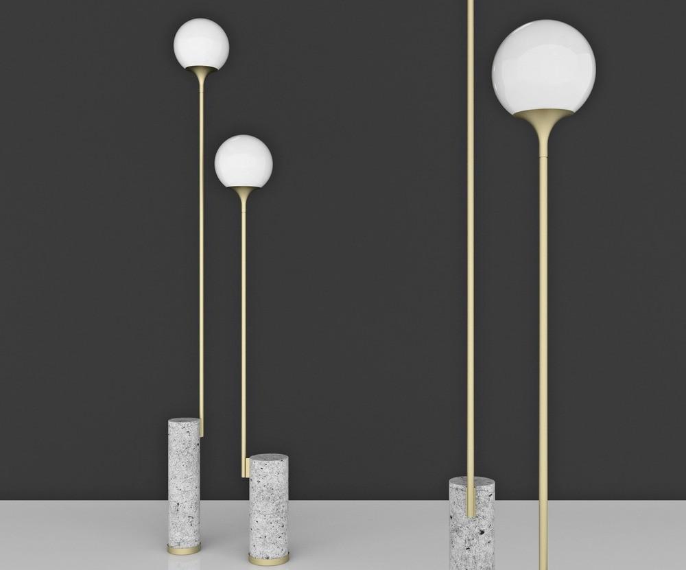 Ion Floor Lamps by Caroline Ficker (Brasil)