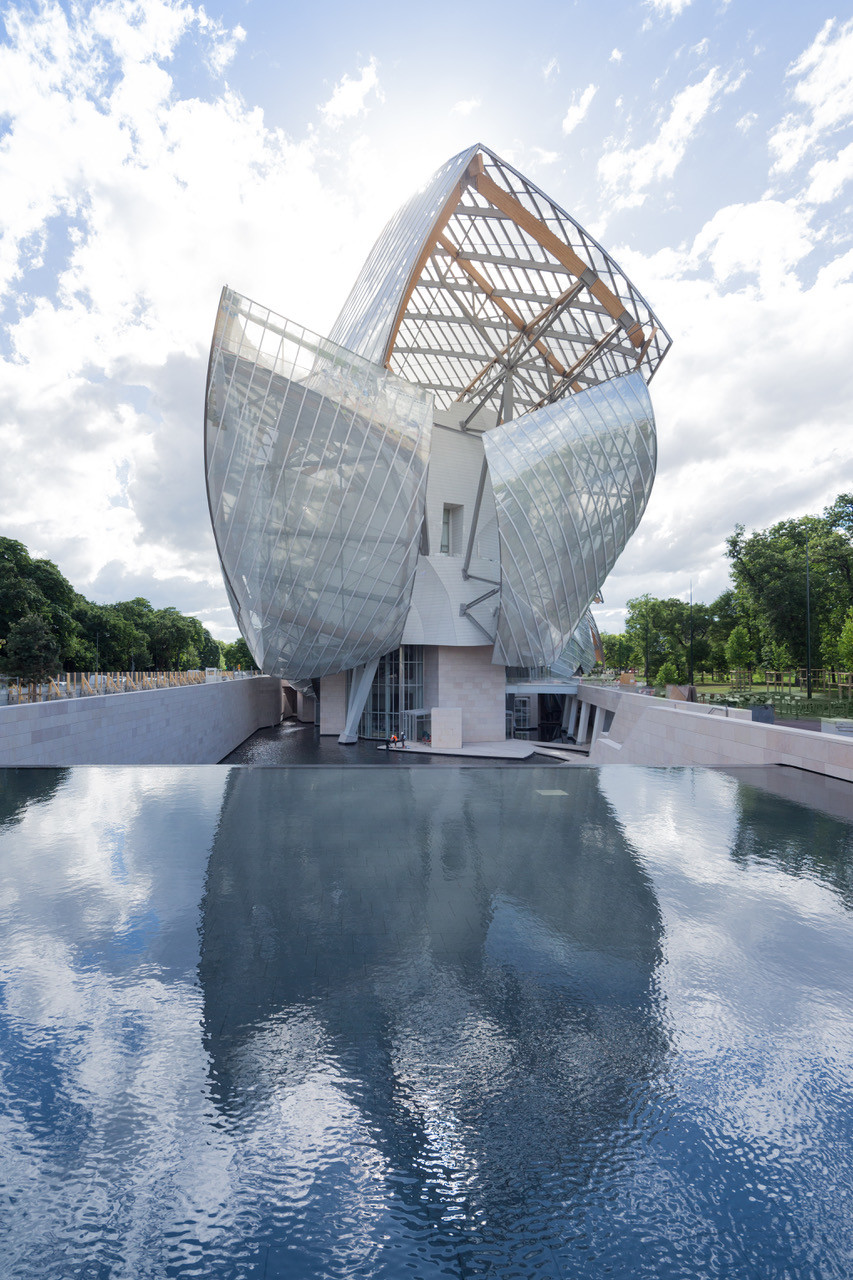 AD França / Fachada Este / Foto: Iwan Baan, Fondation Louis Vuitton