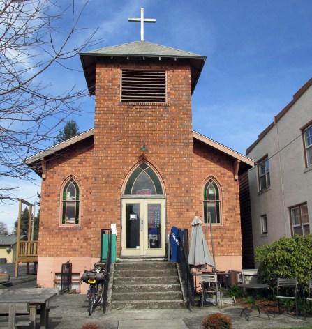 Once a church, now a coffee house.
