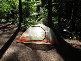 My glowing Marmot Eos 1 tent.