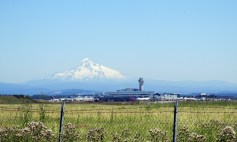 Mount Hood and Portland international Airport