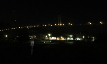 St Johns Bridge at night