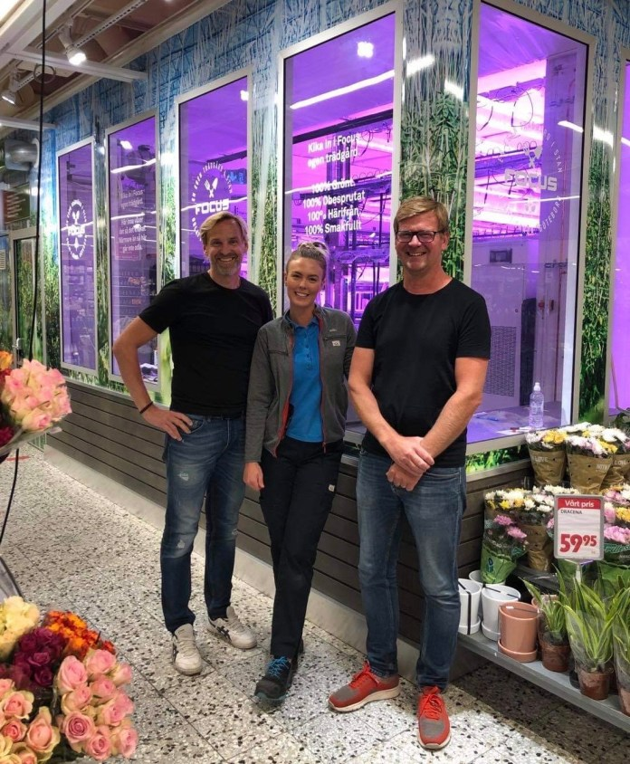Swegreen's first automated farming unit takes place at ICA Focus in Gothenburg