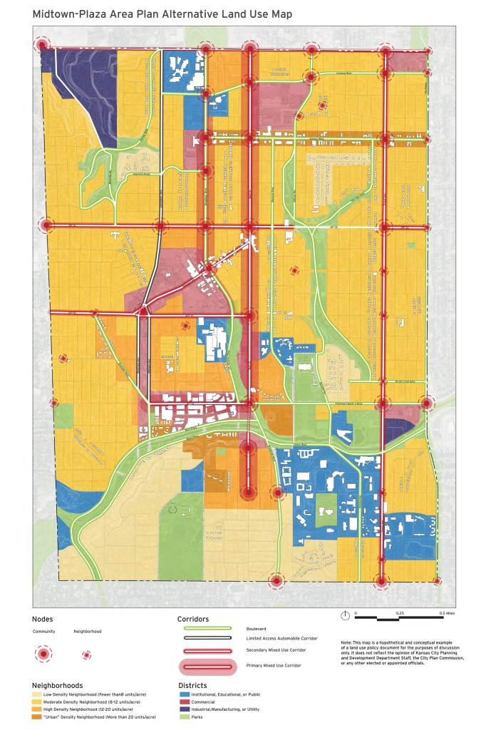 Midtown Plaza Area Plan Alternative Land Use Map