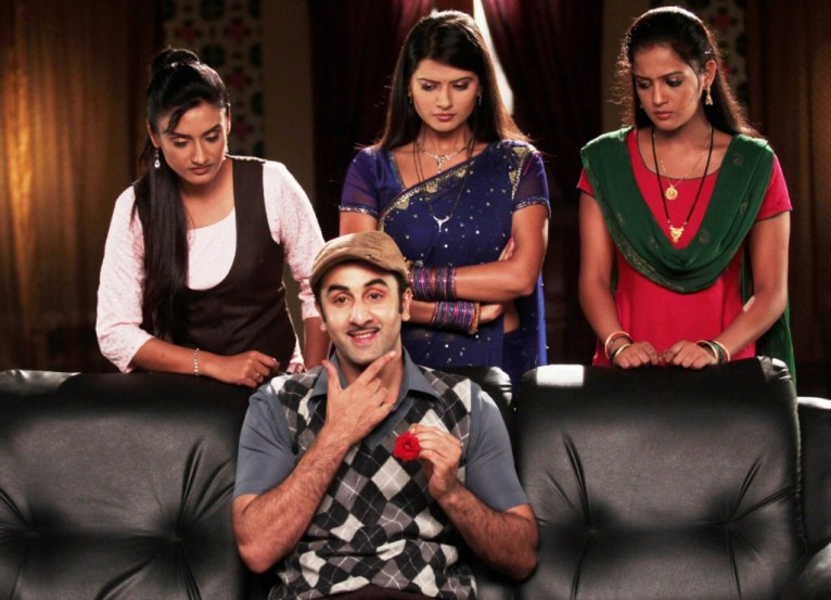 A scene from the special episode of Zee TV's prime time soaps with actor Ranbir Kapoor and Zee TV's leadng ladies Rati Pandey, Kratika Sengar and Gulki Joshi