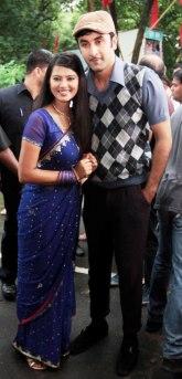 Ranbir strikes a pose with Kratika Sengar of Zee TV's Punarvivaah
