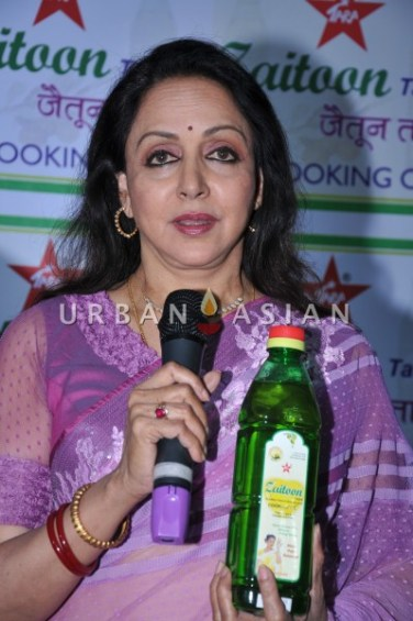 Hema Malini speaking about Zaitoon tara at Launch (16th March 2013