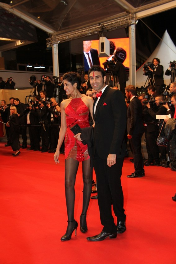 Sandip Soparrkar with his wife Jesse Randhawa at Cannes Film Festival3