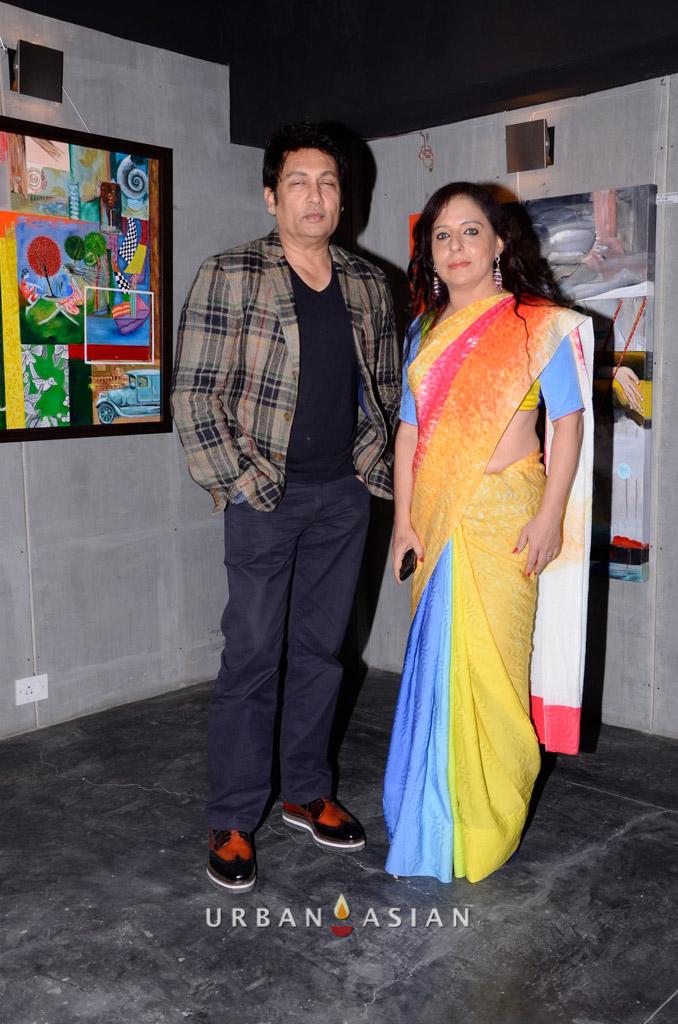 130613_190810Shekhar Suman With Sangeeta Babani At The Opening Of Myriad Feelings