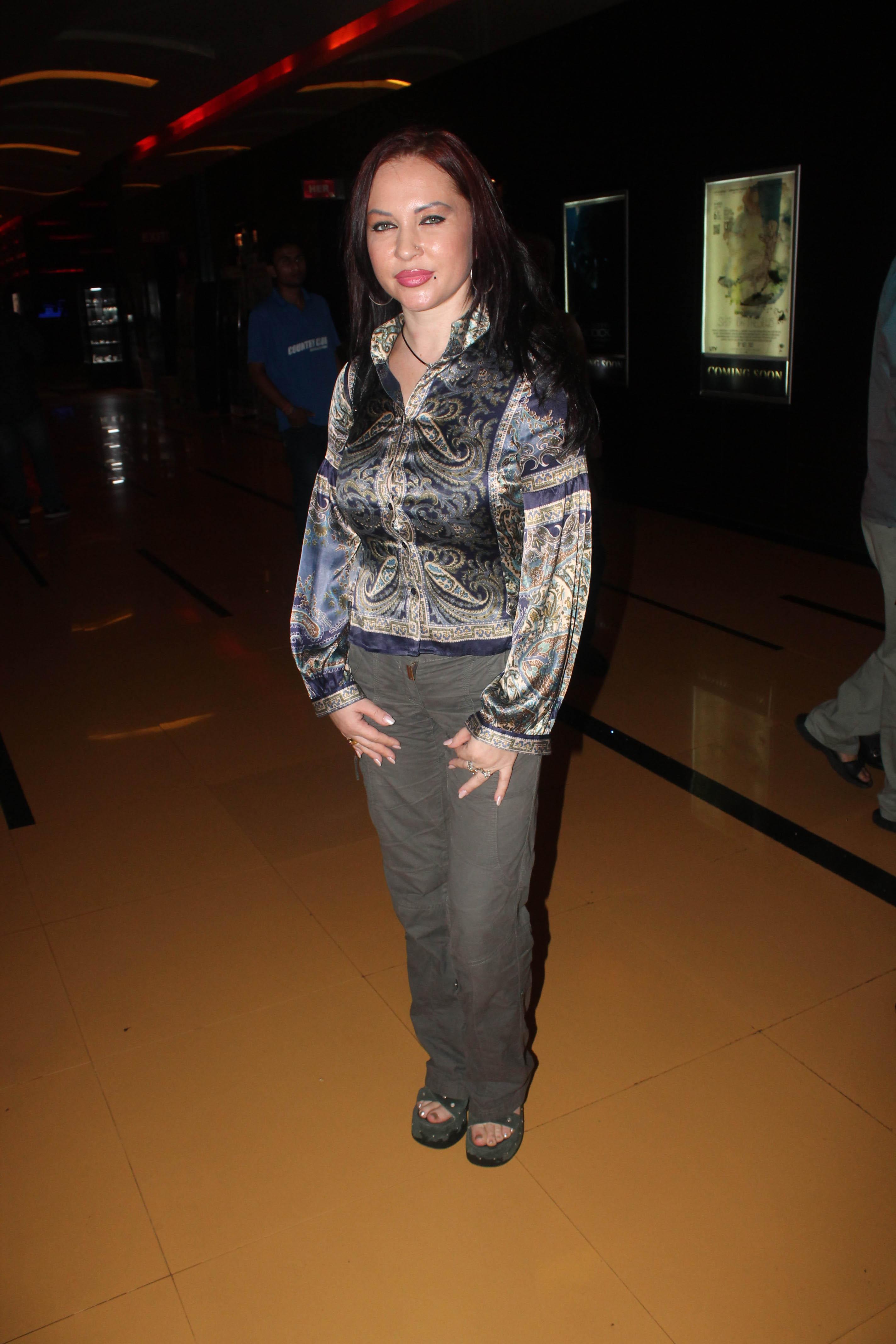 Ukrarian Actress Nataliya Kozhenova At The Party