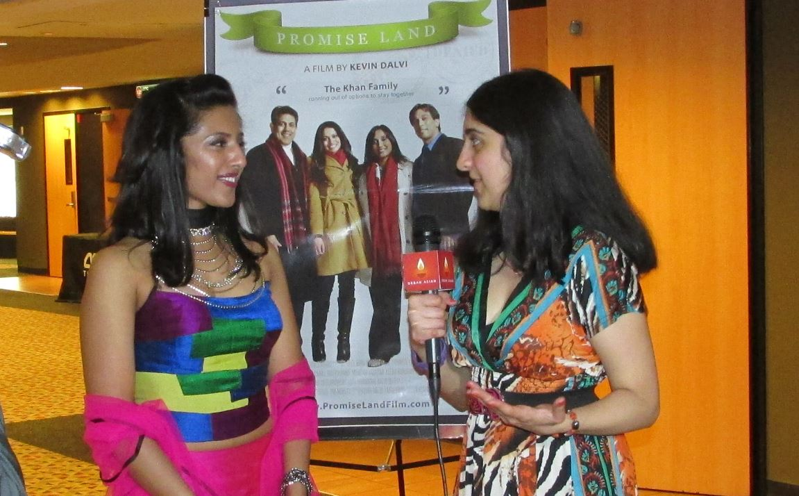 Promise Land 16 - Roopa interviewing Leena Kurishingal, Photo Credit: Poonam Modha