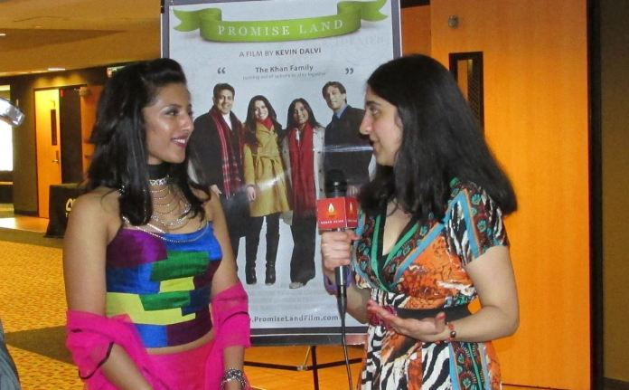 Promise Land 16 - Roopa interviewing Leena Kurishingal, Photo Credit: Poonam Modha