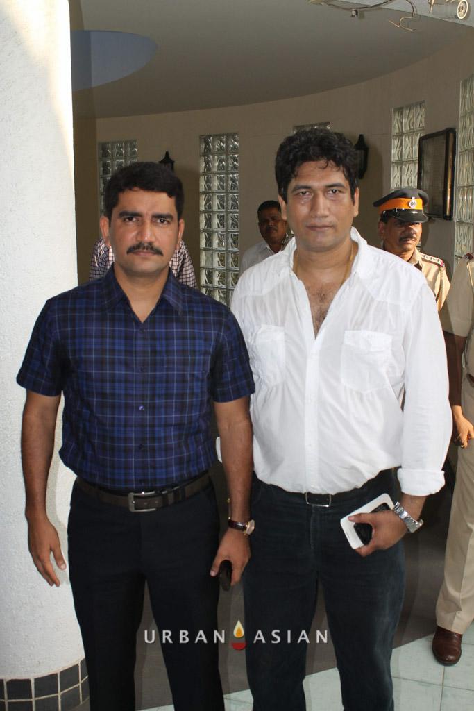 Additional Commissioner Vishwas Nangare Patil With Satish Reddy At Are We Safe Campaign
