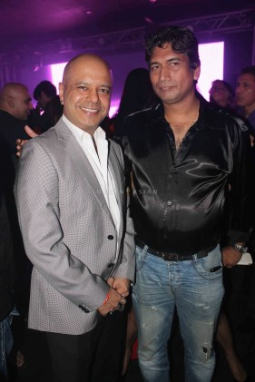 Naved Jaffery with Satish Reddy at party