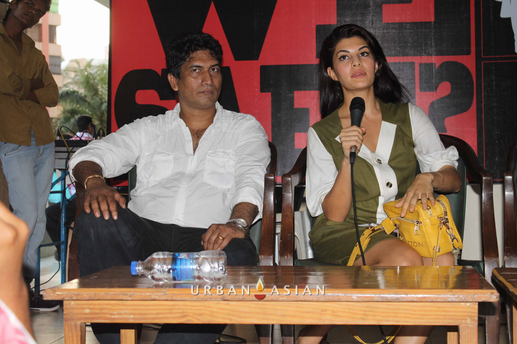 Satish Reddy With Jacqueline Fernandez At Are We Safe Campaign