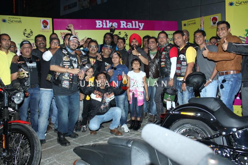 Charan Singh Sapra Flag-off the Harley Davidson bike Rally