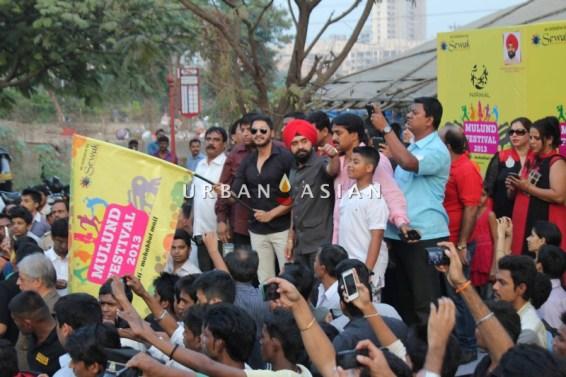 Shreyas Talpade Flag-off the Harley Davidson bike Rally With Charan Singh Sapra1