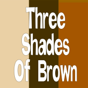 3 shades of brown