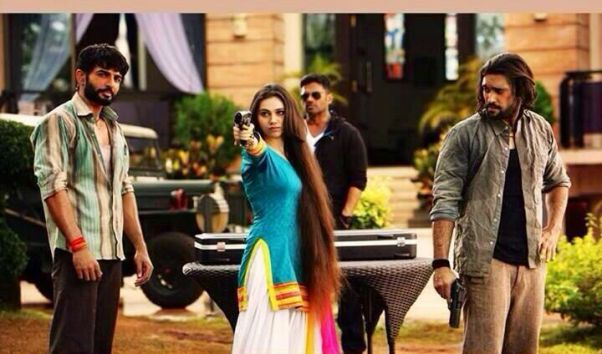 Sasha Agha Khan with Jai Bhanusali, Akhil Kapur and Suneil Shetty