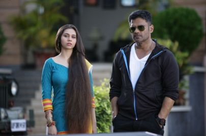 Sasha Agha Khan with Suneil Shetty
