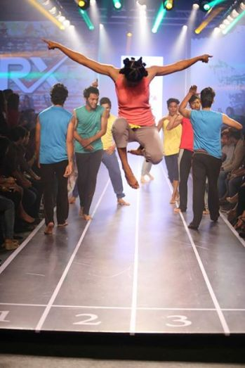 Sandip Soparrkar troups performing at Myntra fashion show