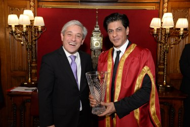 Speaker Rt Hon John Bercow and Shah Rukh Khan at Britain's House of Commons in London DSC_5744