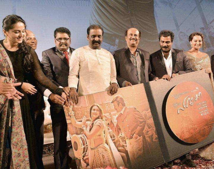 Anushka Shetty-KS Ravikumar-Rajnikanth-Rockline Venkatesh-Sonakshi Sinha